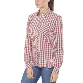 Schöffel Riga2 - T-shirt manches longues Femme - beige/rouge